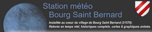 Station météo de Bourg Saint Bernard